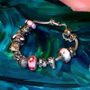 "7.5"" Original Pandora Charm Bracelet"
